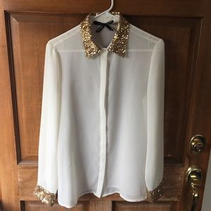 Button down blouse with collar